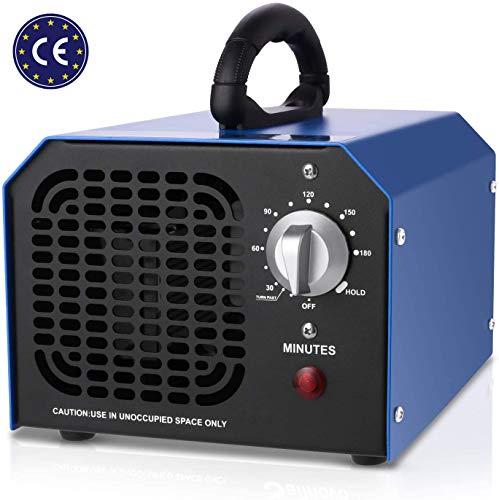supportMe Generador de Ozono Profesional, 6,000mg/h Ozono Coche Ozono Purificador de Aire Maquina de ozono para Hogar, Cocina, Oficina, Autos y Mascotas