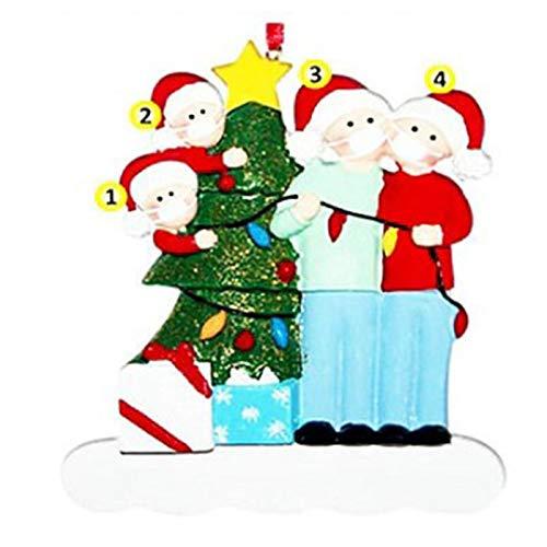 Jul gör-det-själv namn välsignelse hängande hänge 2020 hängande hänge dekoration kreativ varm hängande juldekorationer julgran säljs en efter en