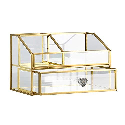 xldiannaojyb A Prueba de Polvo y Caja Transparente cosmético del almacenaje con cajón, Cuidado de la Piel Producto de la joyería Acabado Cuadro