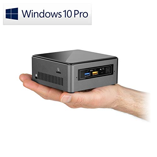 Mini PC - CSL Intel NUC Core i7-8559U inkl. Windows 10 Pro - 4X 2700MHz, 8 GB RAM, 240GB SSD, Intel® Iris HD Graphics 655, USB 3.1, WLAN