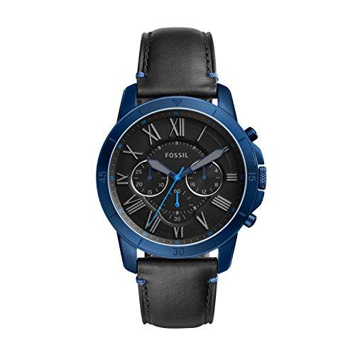 Fossil Herren Quarz Uhr mit Leder Armband FS5342