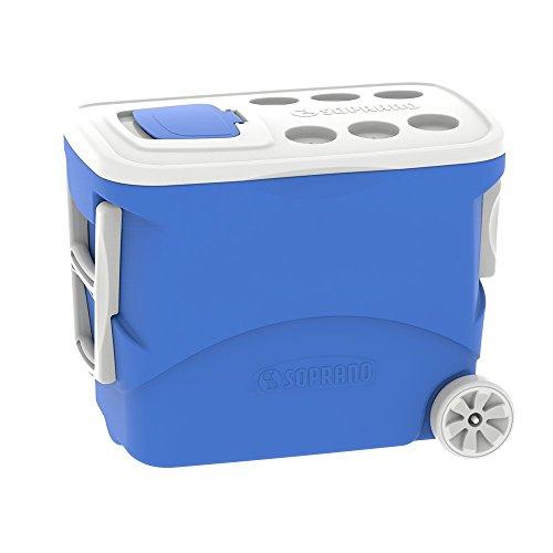 Caixa Térmica Tropical 50L com Rodas, Soprano, 0033, Azul, Grande
