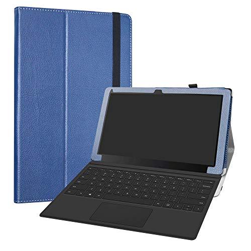 LiuShan Linx 12X64-12.5 Custodia, Slim Sottile Pieghevole con Supporto in Piedi Caso per 12.5  Linx 12X64-12.5 Windows 10 Tablet,Blu