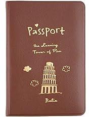 QiKun-Home 2015 PVC Paspoorthouder Cover Identiteit ID Creditcard Cover Tassen Document Map Reizen Paspoort Tassen Case Gratis Verzending koffie kleur