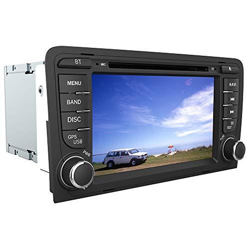 """AWESAFE Autoradio 2 Din pour Audi A3/S3/RS3 8P avec Système Wince 6.0,Lecture CD/DVD GPS Navigation avec 7"""" Écran Tactile HD/Commande au Volant/Appel Bluetooth/Mirrorlink/FM/Vue Arrière de Recul/RDS"""