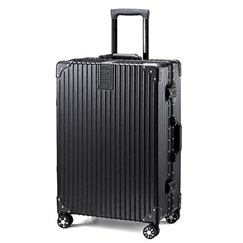 TABITORA(タビトラ) スーツケース 大型 人気 キャリーバッグ 安心一年サービス TSAロック搭載 旅行用品 出張 超軽量 大容量 静音 8輪 アルミフレーム 90L 6.2KG ブラック XL