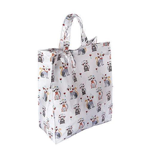 Einkaufstasche faltbar Reisenthel Shopper mit lustiges Katze Design Geschenk für Frauen Katzenliebhaber