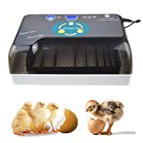 KKTECT Incubateur d'oeufs Ajuster automatiquement la température Retourner automatiquement les œufs Incubateur numérique entièrement automatique pour incubation poulet / canard / oeuf de pigeon