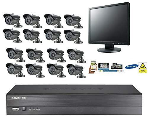 Samsung (48 UUR SALE) 16 Kanaals CCTV Security Kit Bullet Camera Monitor Afstandsbediening