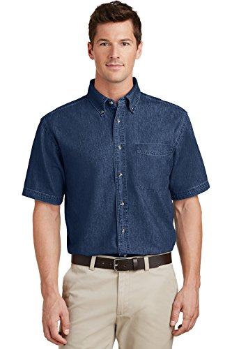 Port & Company® - Short Sleeve Value Denim Shirt. SP11 Ink Blue* 4XL
