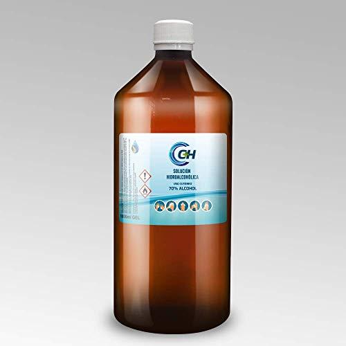 C+H GEL hidroalcohólico de uso cutáneo   1 uds 1000ml   Gel para desinfección con dosificador para uso personal   Puedes recargar envases más pequeños  Para manos y otras superficies.
