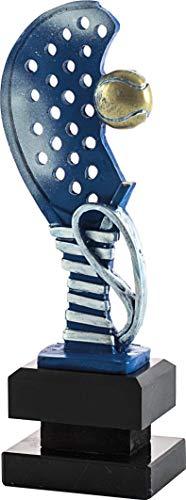 Art-Trophies TP445 Trofeo Deportivo Raqueta Pádel, Azul, 24 cm