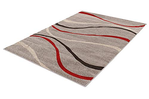 ABC Tappeti Alfombra Casa Weaves Gris/Negro/Rojo Size is Not in Selection ES