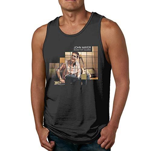 DJNGN Camiseta de algodón para Hombre, Camiseta sin Mangas para Gimnasio, Camiseta sin Mangas con Carteles de John Mayer, Camiseta sin Mangas