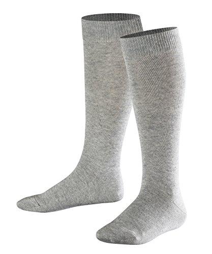FALKE Kinder Kniestrümpfe Family - 94% Baumwolle, 1 Paar, Grau (Light Grey 3400), Größe: 35-38
