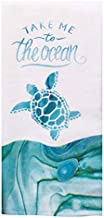 Kay Dee Designs Coastal Tranquility Ocean Turtle Dual Purpose Terry Kitchen Towel, Multi