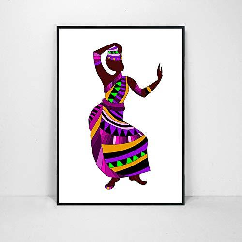 Wwjwf 12 Arten Ethnische Bräuche Tanzen Mädchen Frauen Abbildung Bild Drucken Leinwand Malerei Abstrakte Kunst Poster Für Wohnkultur Kein Rahmen