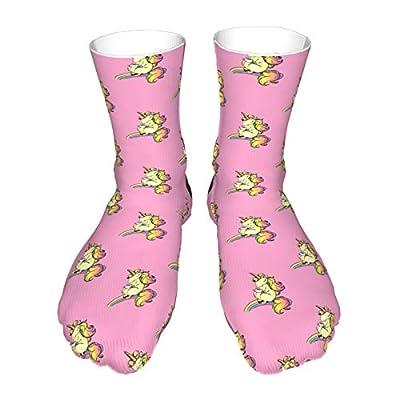 Calcetines divertidos de algodón con diseño de unicornio