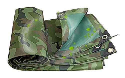 Heavy Duty Tarpaulin Waterproof tarps Camping groundsheet Camouflage Tarp Outdoor Fishing Camping Tent for Patio, Garden, Yard, Pergola 910 (Color : Camouflage, Size : 4.5X6M)