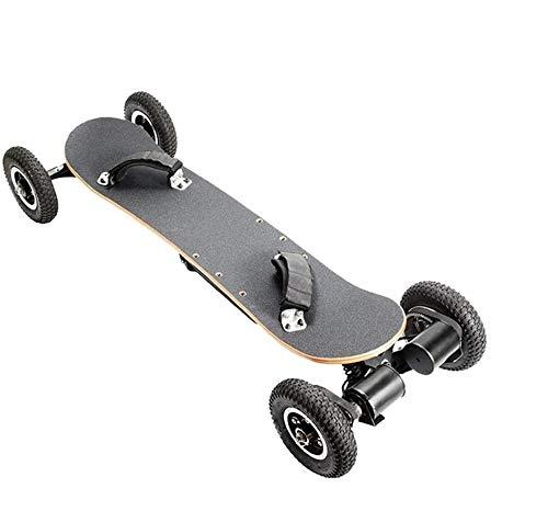 SSCYHT Elektrisches Offroad-Skateboard, 40 Km/H, Motorisiertes 1650-W-Motor-Longboard Mit Zwei Schichten, Ahorn Mit 8 Schichten, Gelände, Mit Fernbedienung