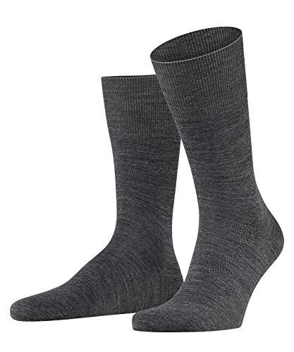 FALKE Herren Socken Airport, mit Merinowolle und Baumwolle, Business Socken zum Anzug, Grau (Dark Grey 3070), 43-44, 1er Pack