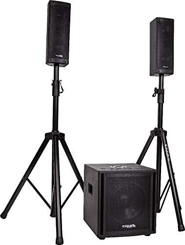 IBIZA CUBE104 2.1 Aktiv Lautsprecher Set 10