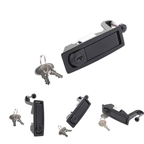 perfk 4 Stücke Handbetätigte Kompressionsverschluss Einstellbare Unterputzhebelschloss Für RV Bootsanhänger Camper, Locking Stil Mit Schlüssel