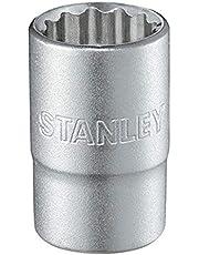 """STANLEY Llave de vaso 1/2"""" 12 P 32mm 1-17-073, Plateado, 32 mm"""