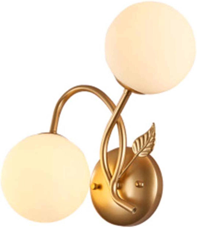 Postmoderne Minimalistische Schlafzimmerlampe Nordische Flurwandlampe Schlafzimmerwandlampe Führte Hotelnachttischbeleuchtung,Gold