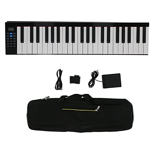Piano plegable Eujgoov, Órgano electrónico inteligente digital Bluetooth multifuncional de 88 teclas con altavoz