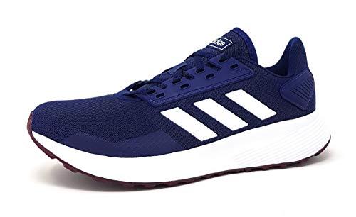 adidas Duramo 9, Zapatillas de Entrenamiento para Hombre, Azul (Dark Blue/Footwear White/Maroon 0), 42 2/3 EU