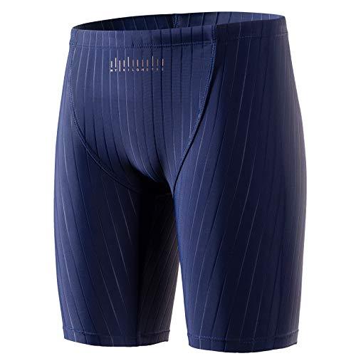 MY KILOMETRE Boys' Jammer Swimsuit with Drawstring Endurance Boys Youth Swim Shorts Black, Navy