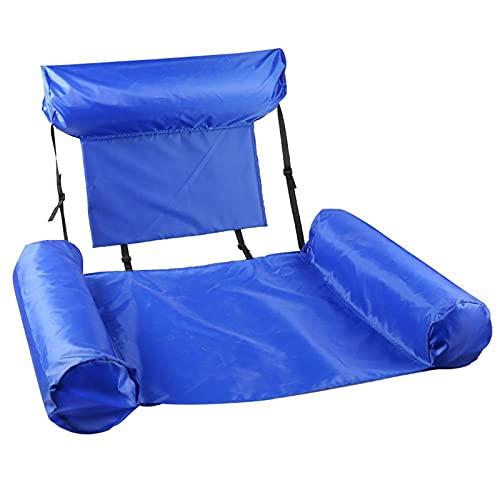 WDL WDLInflable Sofá de aire Hamaca portátil, a prueba de agua, diseño antifugas de aire, ideal para patio trasero, playa, viajes, camping, pícnics y morado