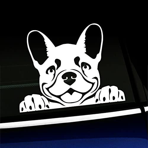 Peeking Frenchy Cute French Bulldog Car Sticker Car Decal Vinyl