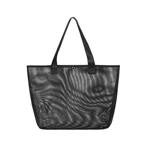 AnSafe Bolsa de transporte ligera, reutilizable y portátil, para natación en la playa (color: negro)