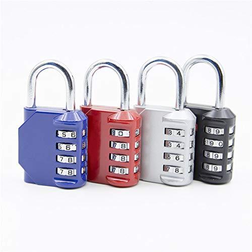 Dial digitale cijferslot, geschikt zoals bagage metalen hangslot fitness kabinet kantoor voor het dagelijks leven,Blue