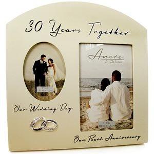Doppio per 30° anniversario di matrimonio (anniversario di perla-Cornice portafoto