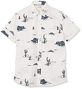 Amazon Brand - Goodthreads Men s Standard-Fit Short-Sleeve Printed Poplin Shirt Desert Landscape XXX-Large Tall