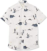 Amazon Brand - Goodthreads Men's Standard-Fit Short-Sleeve Printed Poplin Shirt, Desert Landscape, Large