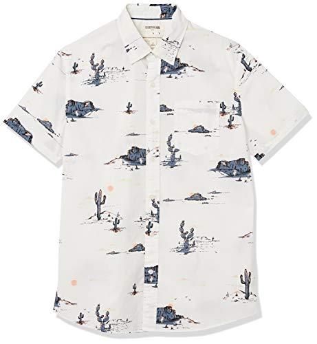 Goodthreads Standard-fit Short-Sleeve Anchor-Print Shirt Button-Down-Shirts, Desert Landscape, S