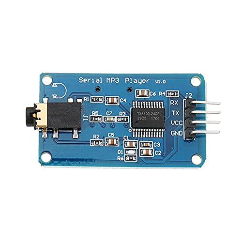 zhoufeng 5 Módulos de Reproductor de música MP3 de Control Serial, Tarjeta de Soporte Mic y ROSD/SDHC para/AVR/Arm/PIC 3.2-5.2V