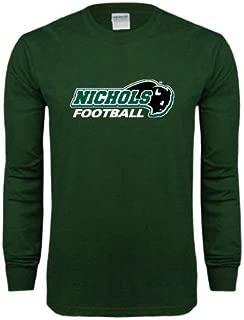 Nichols College Dark Green Long Sleeve T Shirt 'Football' - Small