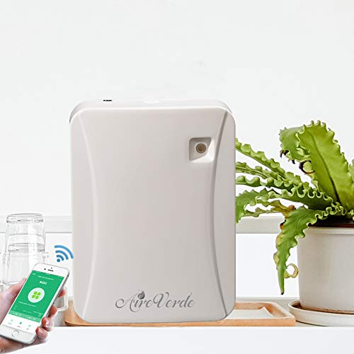 AireVerde Aromatherapy Essential Oil Diffusers, AV300-APP Smart Wall-Mounted Home Scent Delivery System with Wi-Fi Phone APP Remote Control (150ml/App Version, White)