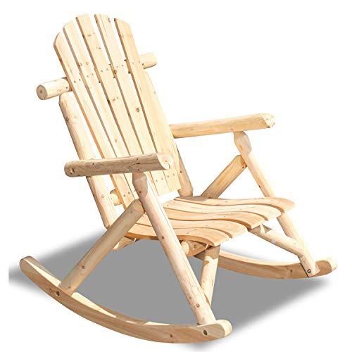 Green Spirit - Garten Schaukel-Stuhl 'Timber' - aus FSC 100% Tannen-Holz zum selber bemalen, DIY - Garten-Möbel Set/Terrassen-Möbel/Balkon-Möbel