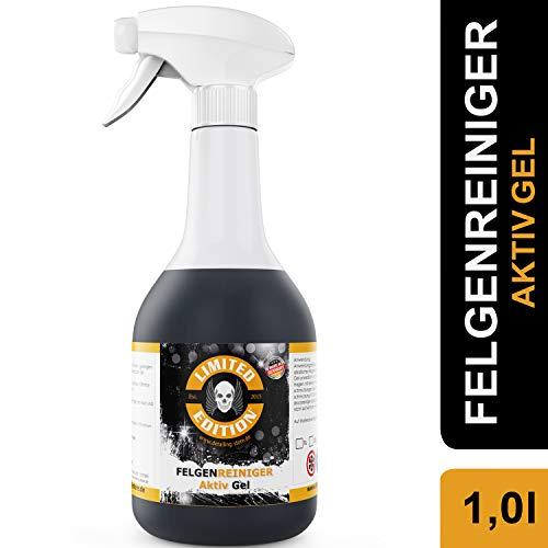 Limited Edition - 1 Liter Felgenreiniger - AKTIV Gel - Effektive Reinigung von starken Verschmutzungen auf Leichtmetallfelgen & Stahlfelgen