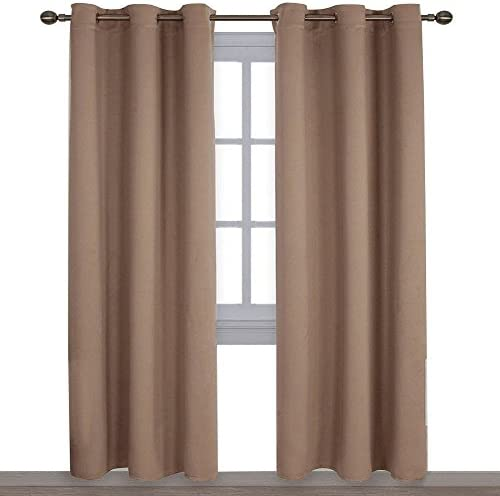 NICETOWN Window Treatment Thermal Insulated Solid Grommet Blackout Curtains Drapes for Bedroom product image