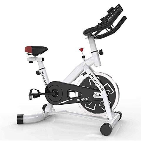 UIZSDIUZ Bicicletas Cubierta Ciclo de la Bici del Volante de la Correa de accionamiento fijos, Bicicleta estática con el Monitor LCD de Inicio Cardio Entrenamiento del Entrenamiento de la Bici