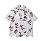 アロハシャツ メンズ 夏 半袖 ゆったり 大きいサイズ オシャレ リゾート サーフィン ビーチシャツ ハワイ風 速乾 海 プリントシャツ 開襟シャツ サマーシャツ M L XL XXL