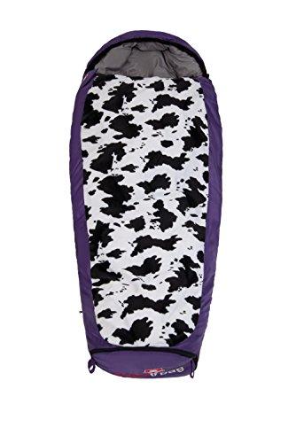 Grüezi-Bag Kinder Schlafsack Mitwachsend Grow Cow RV Links, Lila, 34 x 20 x 20 cm