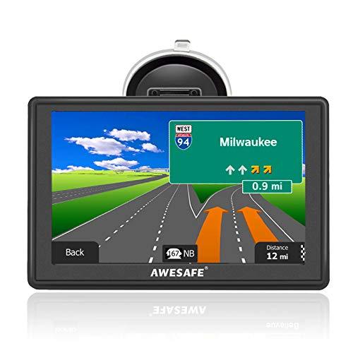 AWESAFE Sat Nav, 5 inch Sat Navs for Cars Trucks Satnav GPS Navigation
